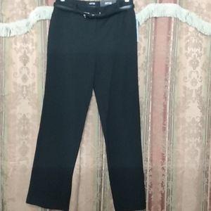 (Apt. 9) Black Curvy Fit Mid-Rise Trouser -Size: 6